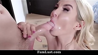 Hot mom and cute daughter fuck the pain brother