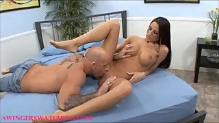 Big tit hot and sexy woman, black hair, banged in front of husband