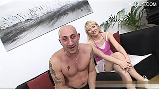 Italian wife close up blowjob