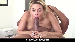 Shewillcheat - blonde-haired, latin, cuba, and the woman he loves a fat black cock