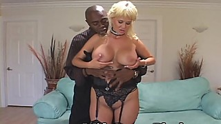 Curvaceous wife takes new black cock
